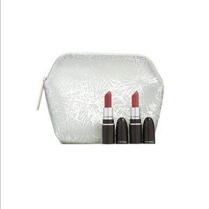 🌟HP🌟 MAC Mini Lipsticks + Cosmetic Bag